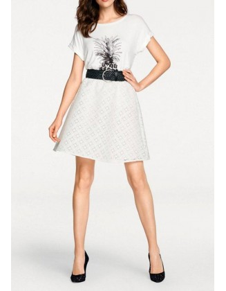 Trumpas baltas sijonas