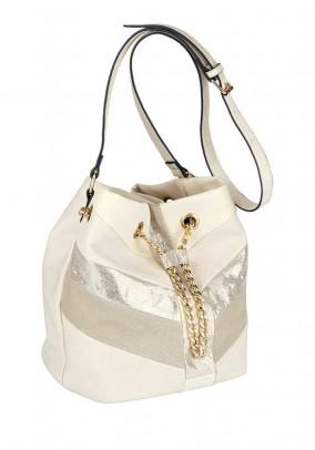 Bag, cream-sand-golden