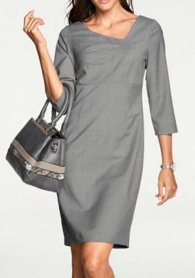 New wool sheath dress, grey