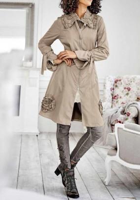 Originalus smėlio spalvos paltas