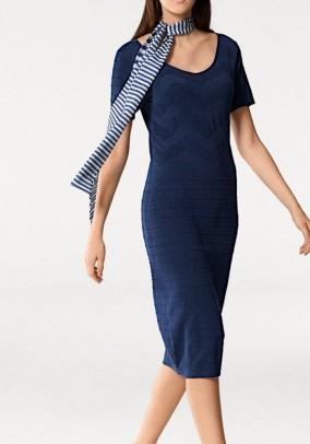 Knit dress, navy