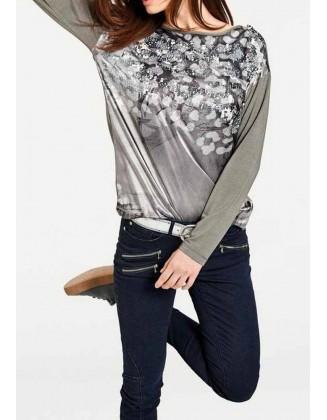 Chaki marškinėliai su žvyneliais