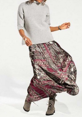 Ilgas bordo spalvos sijonas