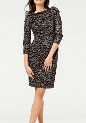Leopardo rašto suknelė. Liko 38 dydis