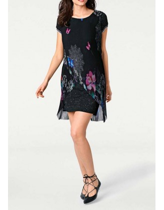 DESIGUAL juoda suknelė