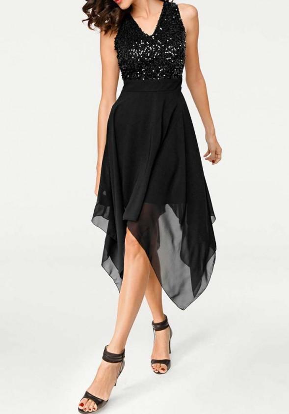 Asimetrinė kokteilinė suknelė. Liko 40 dydis