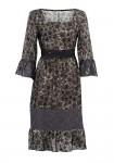 Nėriniuota chaki suknelė