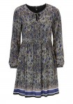 Print dress, blue-grey