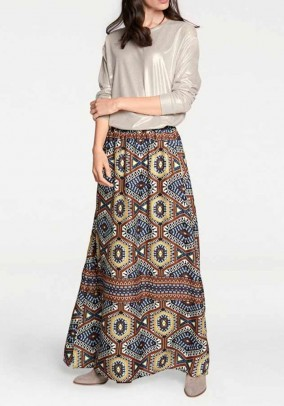 Maxi skirt, multicolour