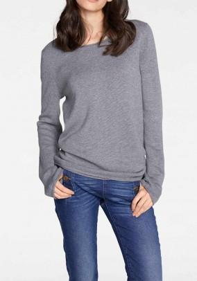 Klasikinis pilkas vilnos megztinis