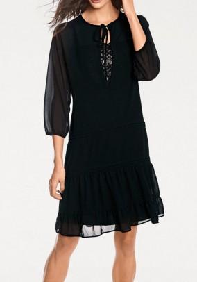 Chiffon dress, black