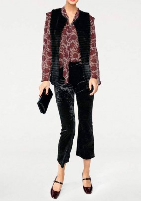 Velvet trousers, black