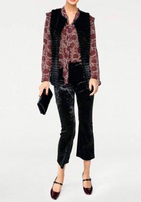 Velvet trousers, black