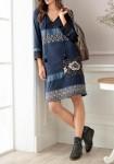 Ekstravagantiška mėlyna suknelė