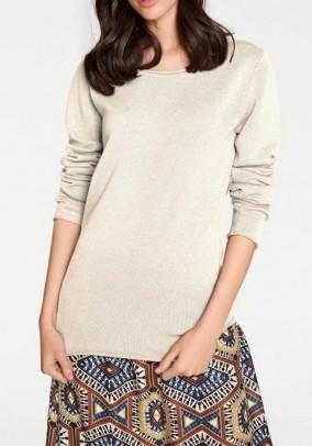 Klasikinis šviesus vilnos megztinis