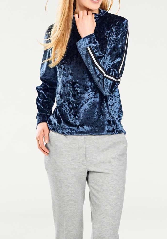 13583179c731cb Velvet shirt, blue-grey