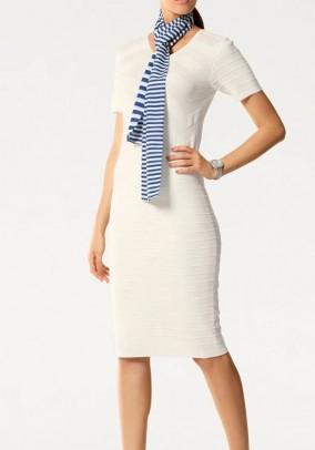 Knit dress, ecru
