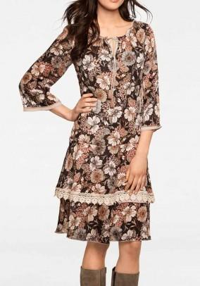 """Ruda margaspalvė suknelė """"Linea"""". Liko 38 dydis"""