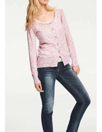 Pastelinių spalvų megztinis