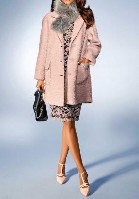 Fluffy coat, rose