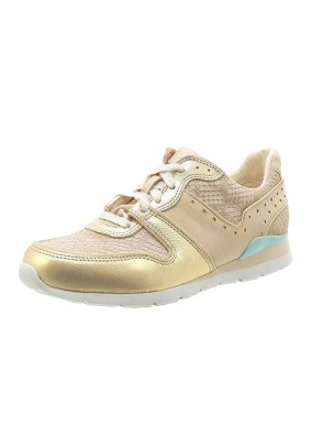 Sneaker, beige-gold coloured