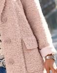 """Pudros spalvos paltas su vilna """"Rose"""""""