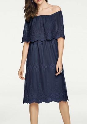 """Mėlyna nėriniuota suknelė """"Carmen"""""""