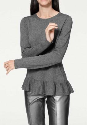 Pilkas megztinis su kašmyru