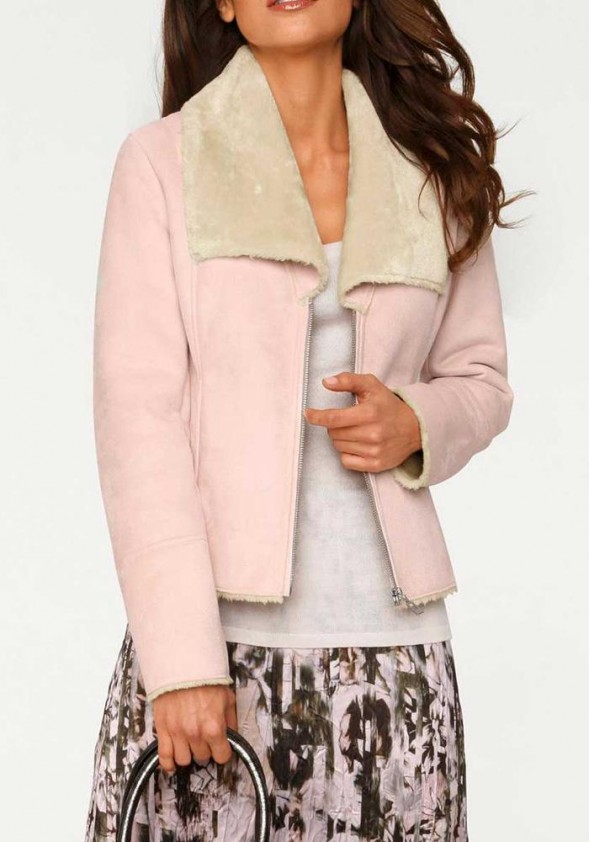 Lamb fur look jacket