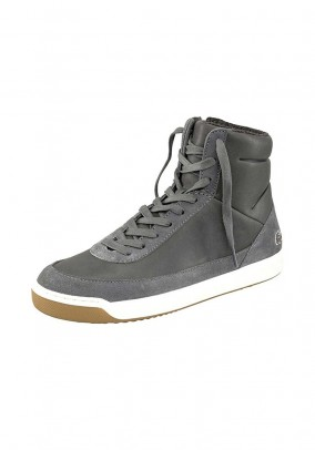 Leather sneaker, grey
