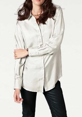 Silk blouse, ecru