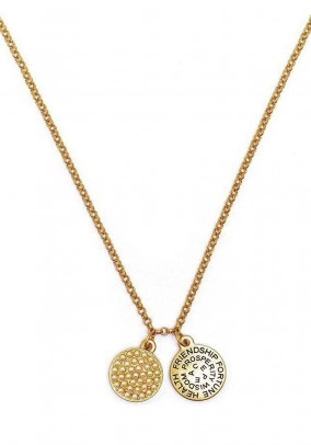 Necklace with pendant, gold coloured