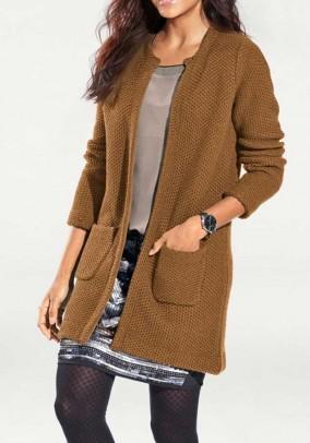 Long cardigan, brown
