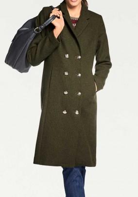 Chaki spalvos vilnonis paltas