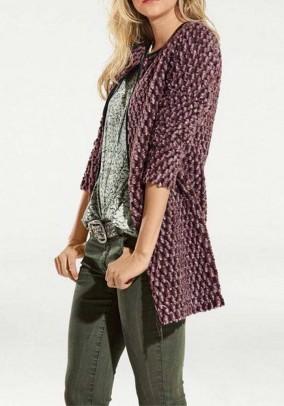 Ilgas violetinis vilnonis megztinis