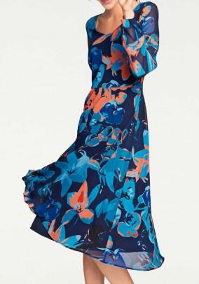 Margaspalvė mėlyna suknelė