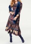 Weave fur scarf, dark blue