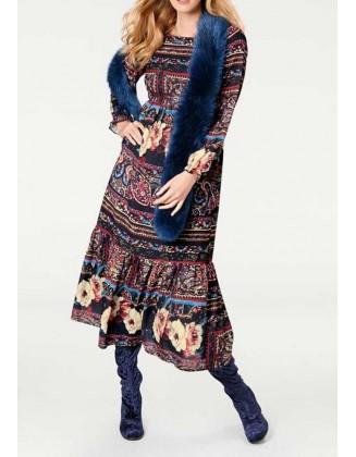 Rudeniška ilga suknelė