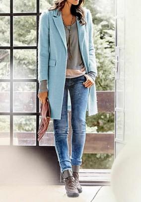 Fluffy coat, light blue