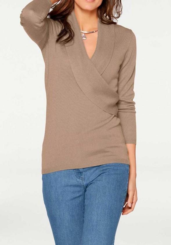 Merino vilnos rudas megztinis. Liko 36 dydis