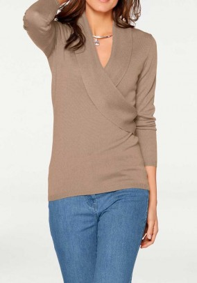 Wool sweatshirt, taupe