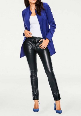 Leather trousers, black