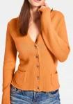 Trumpas oranžinis megztinis