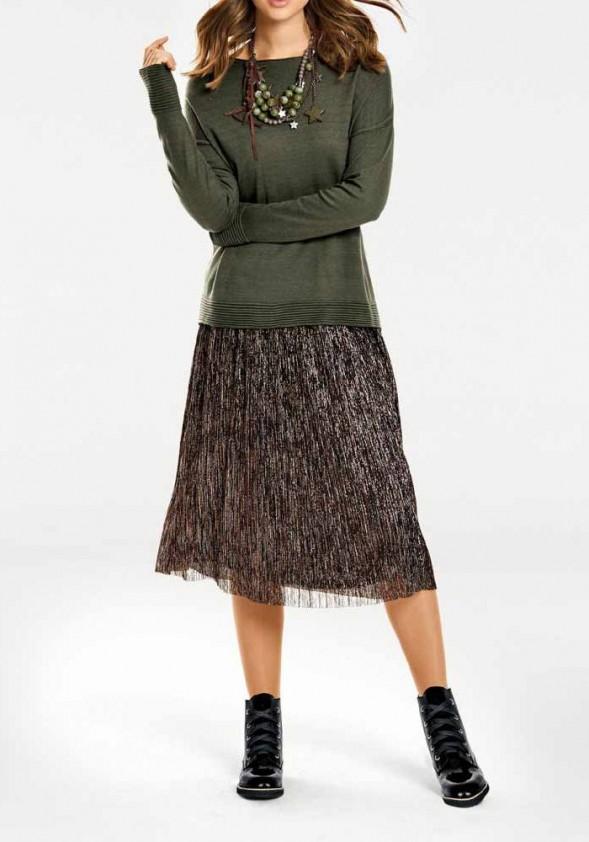 Bronzinis midi sijonas
