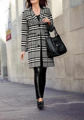 Short coat, black-white