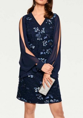 Sequin dress, midnight blue
