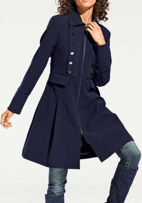 Mėlynas klasikinis paltas