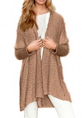 "Ilgas rudas megztinis ""Cami"""