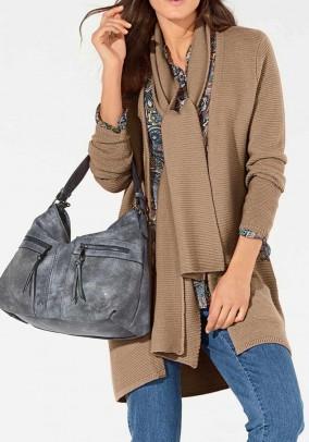 Merino wool cardigan, camel