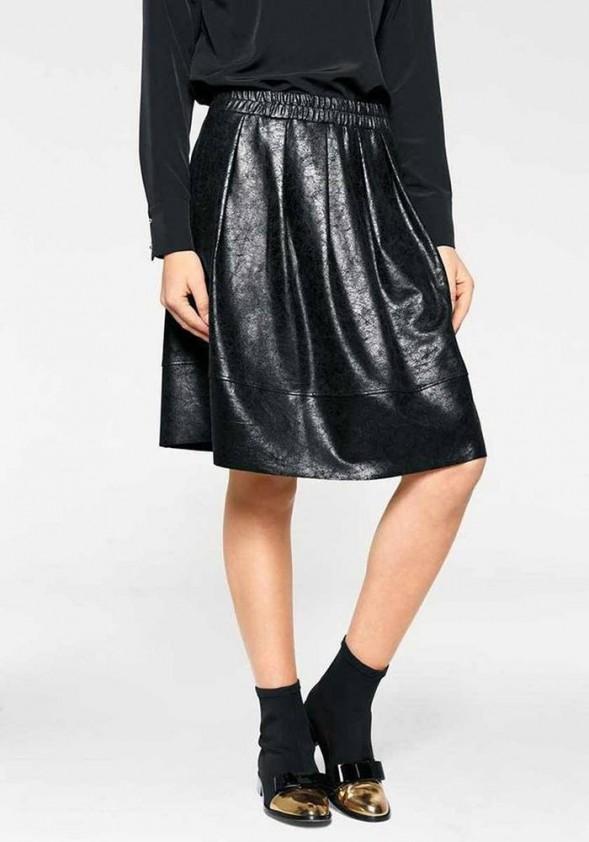 Leather imitation, black